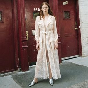 Divine Heritage Lace Trench and Slip Dress NWT